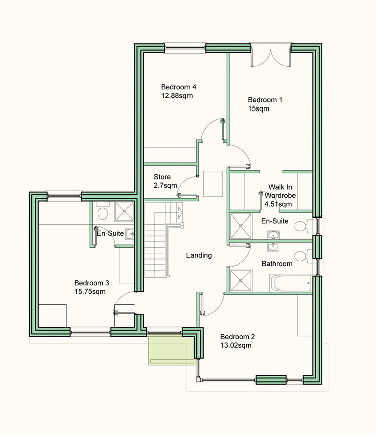 Kingfisher First Floor Plan