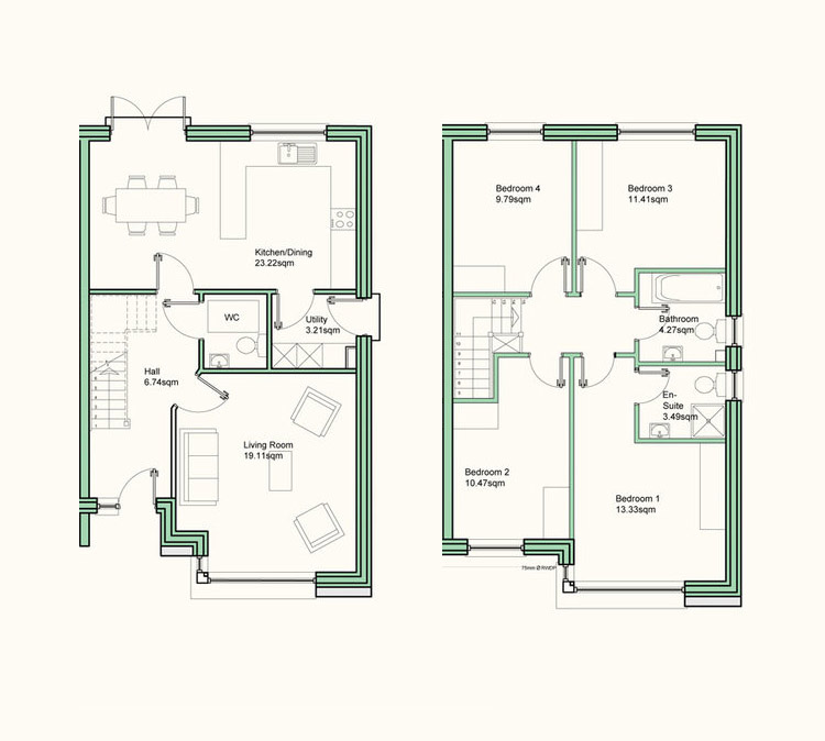 Sparrow house type floor plans