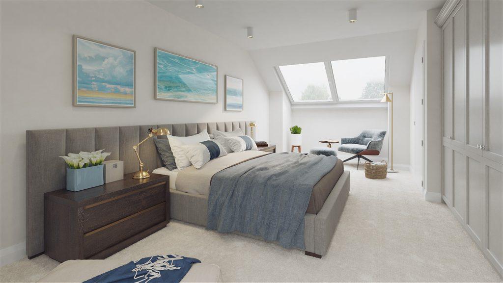 An Maolan Barna optional attic conversion bedroom